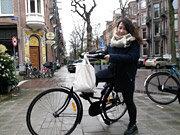 自転車で出勤
