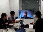 ヨーロッパとのテレビ会議