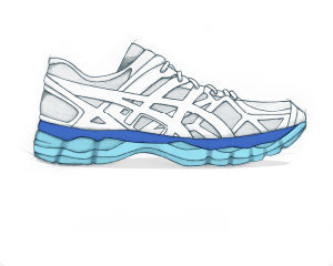 running asics shoes